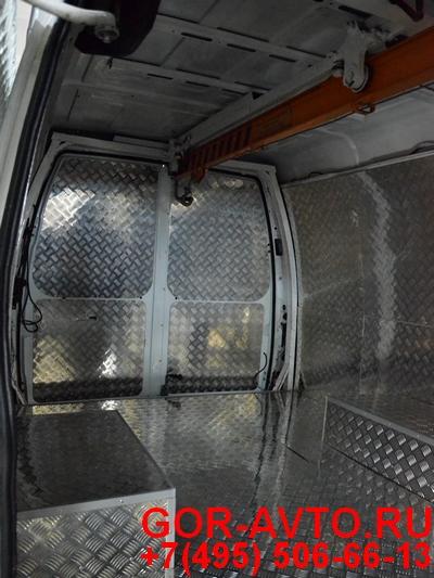 кран балка в фургон