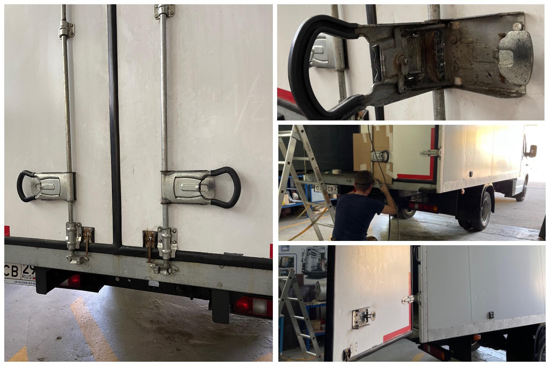 ремонт двери фургона